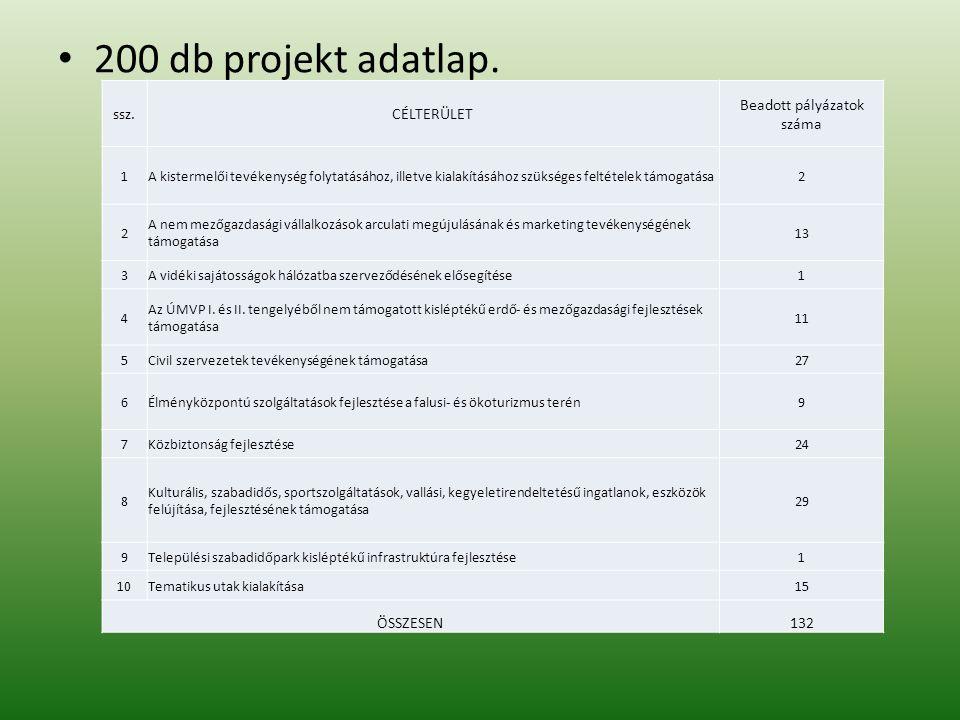 200 db projekt adatlap.