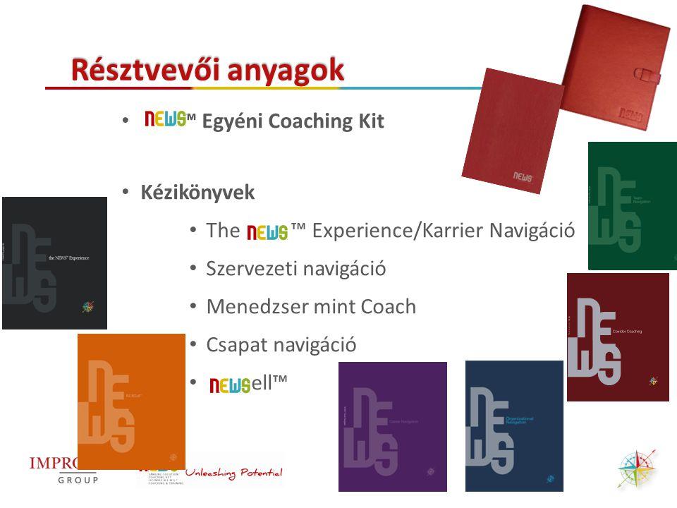 ™ Egyéni Coaching Kit Kézikönyvek The ™ Experience/Karrier Navigáció Szervezeti navigáció Menedzser mint Coach Csapat navigáció ell™ Résztvevői anyago