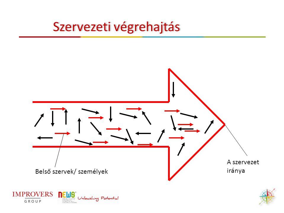 Belső szervek/ személyek A szervezet iránya Szervezeti végrehajtás