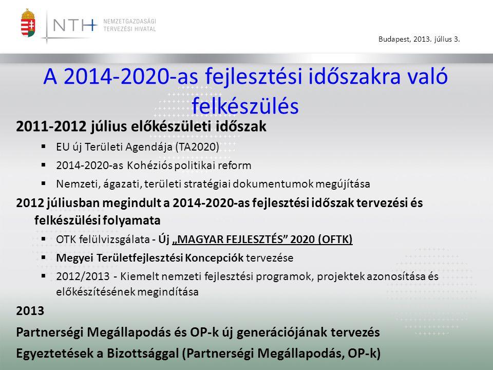 Budapest, 2013.július 3. Operatív programok – A Kormány 1322/2013.