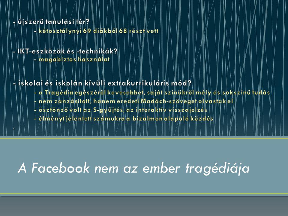 A Facebook nem az ember tragédiája