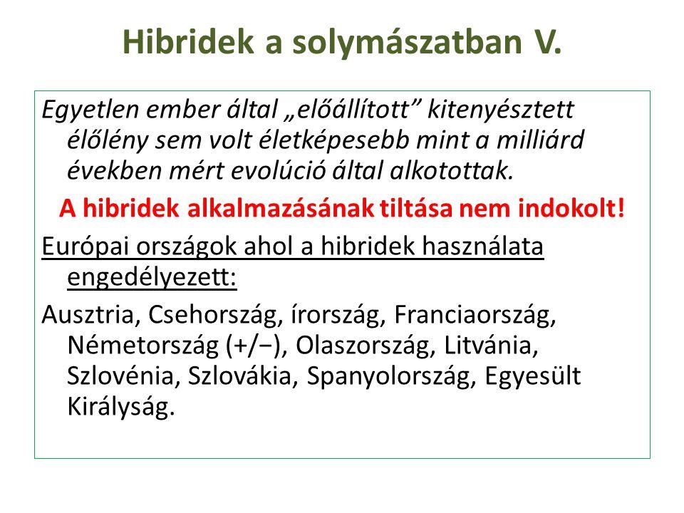 """Hibridek a solymászatban V. Egyetlen ember által """"előállított"""" kitenyésztett élőlény sem volt életképesebb mint a milliárd években mért evolúció által"""