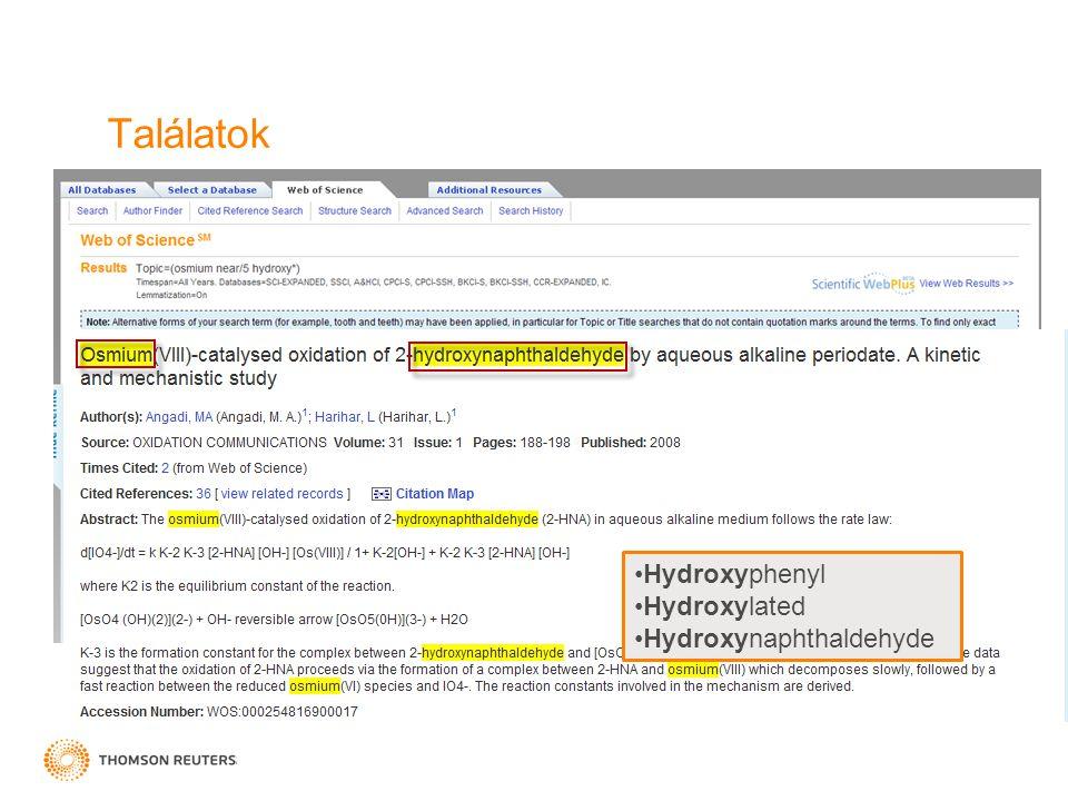 Találatok Hydroxyphenyl Hydroxylated Hydroxynaphthaldehyde