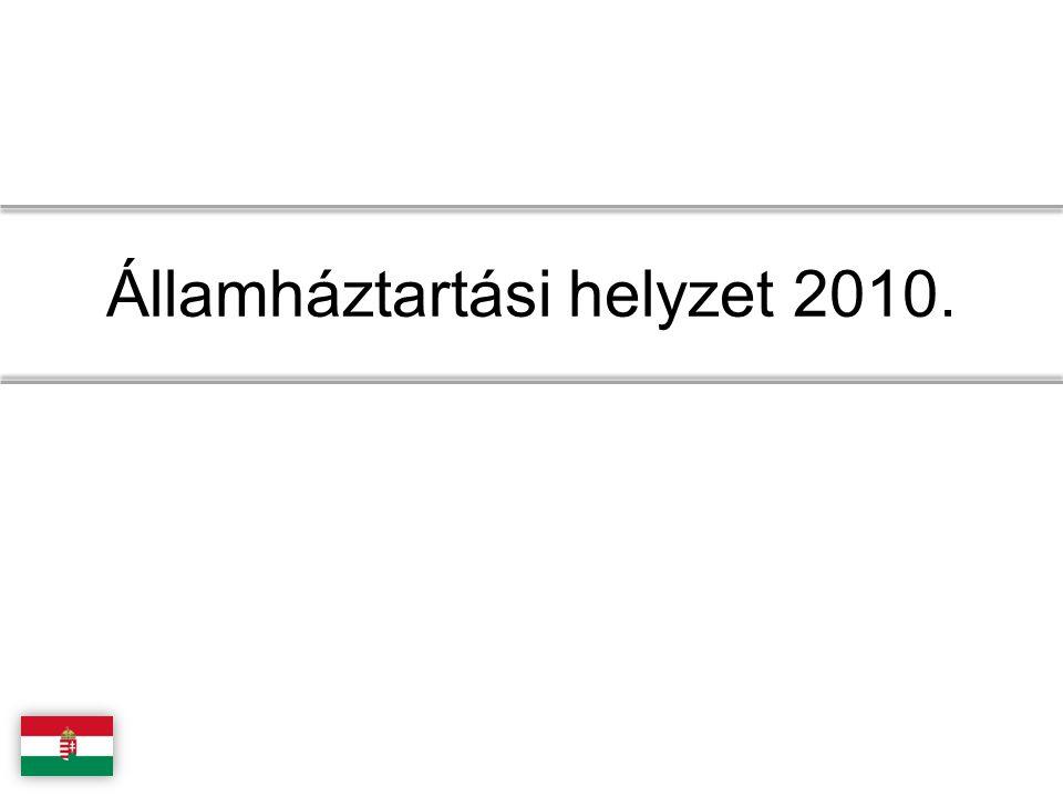 Államháztartási helyzet 2010.