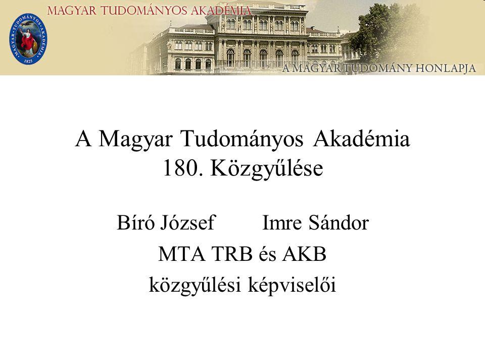 A Magyar Tudományos Akadémia 180.