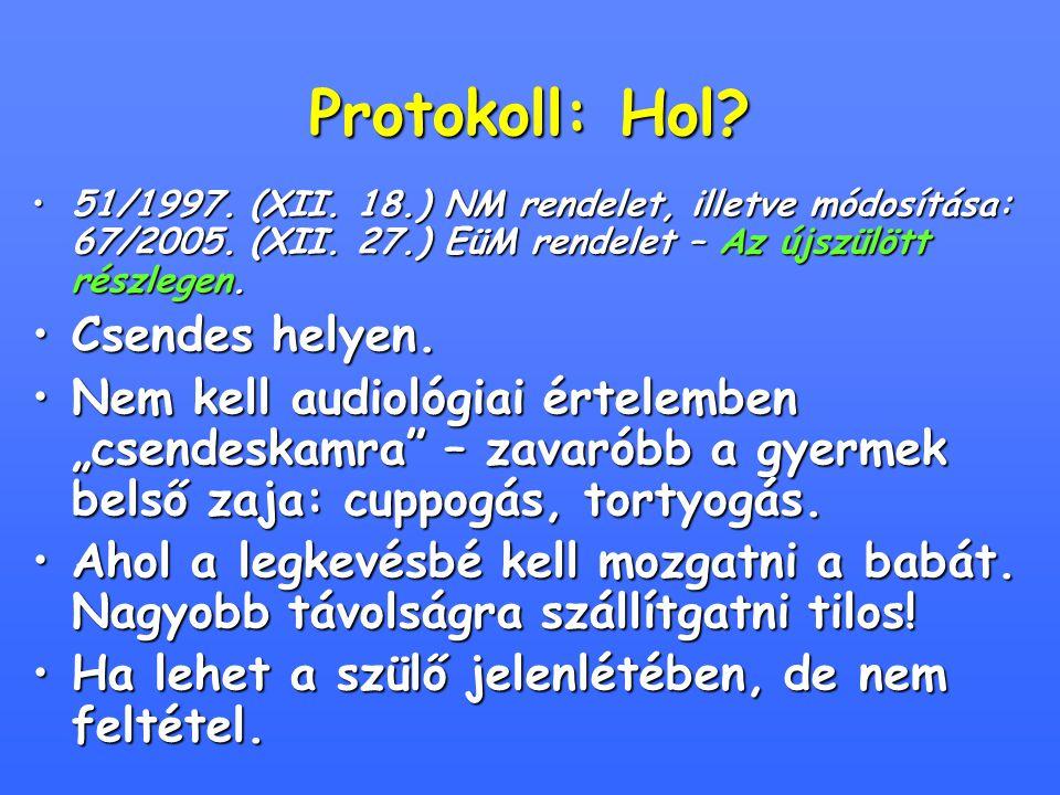 Protokoll: Hol.51/1997. (XII. 18.) NM rendelet, illetve módosítása: 67/2005.