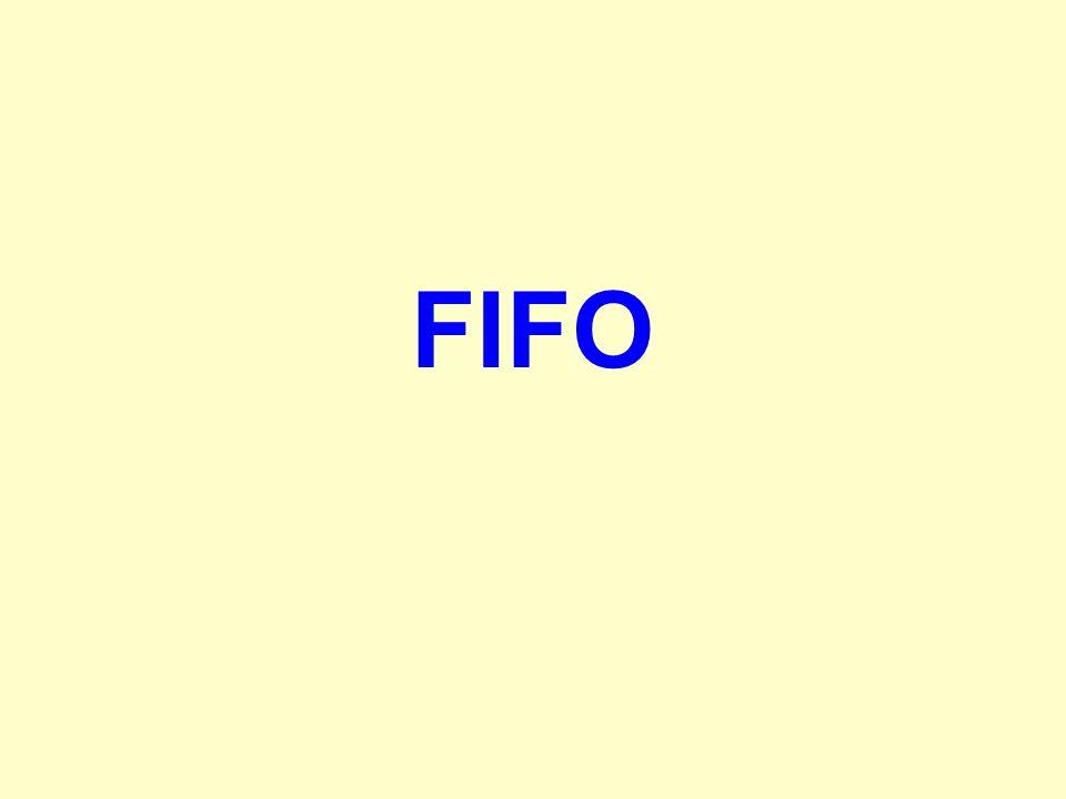 Lapozási stratégiák FIFO -Elõbb be, elõbb ki A behozott lapok számait egy FIFO sorban tároljuk Laphiba esetén a FIFO elején álló lapot cseréljük le A behozott lap sorszámát a FIFO végére írjuk Elõny:egyszerû Hátrány:sok laphibát okoz
