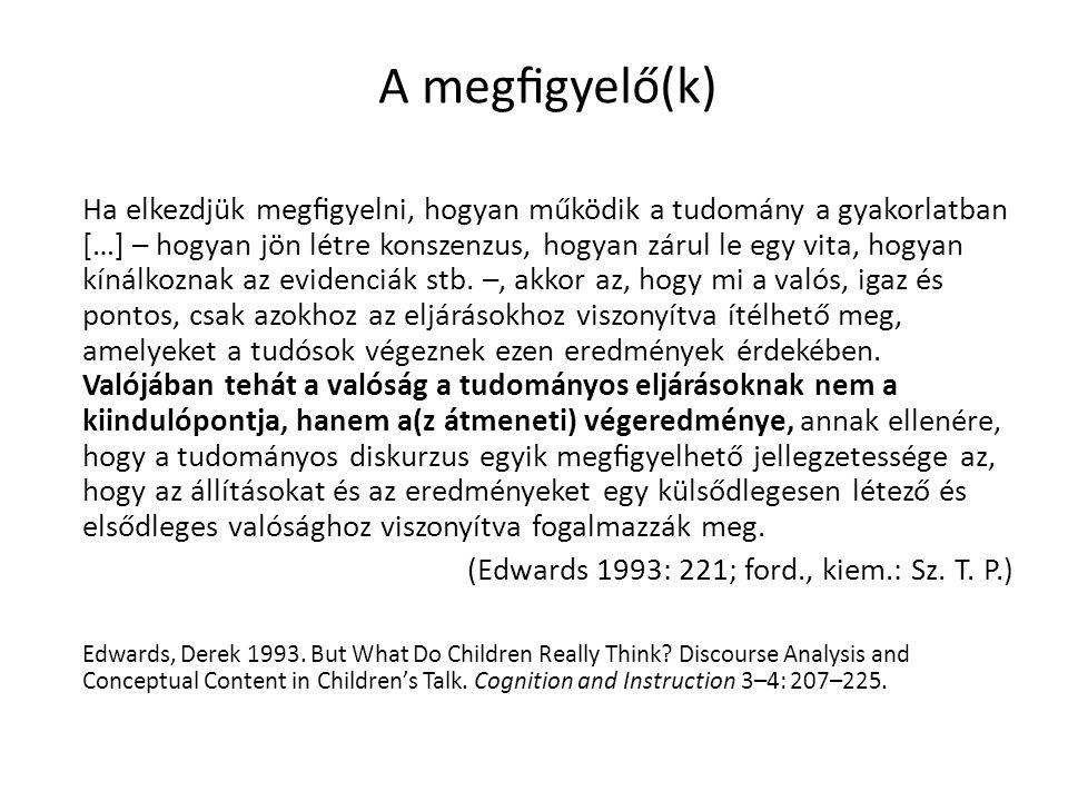 A megfigyelés körülményei Terepmunka: 2009.január–május – Budapest, városok, falvak – 1–4., 7.