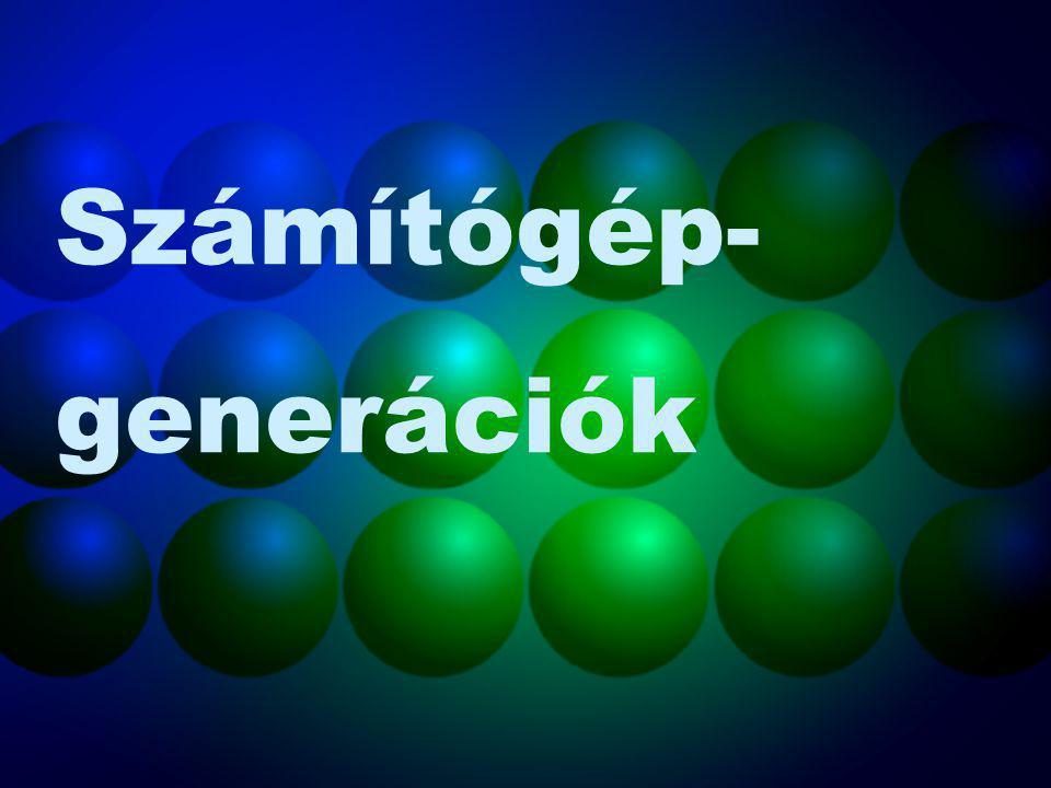 """Nulladik generációs """"gépek : Abakusz 3-4000 évvel ezelőtt Logaritmus-logarléc 1600-as évek eleje Wilhelm Schickard gépe 4 alapművelet - 1623 Blaise Pascal gépe Összegzőgép - 1642-44 Charles Babbage gépe Differenciagép - 1820-as évek eleje Herman Hollerith gépe Lyukkártyás gép - 1890 (amerikai népszámlálás) Konrad Zuse gépe Z3 – A világ első elektromechanikus gépe - 1938"""