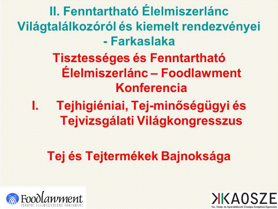 II. Fenntartható Élelmiszerlánc Világtalálkozóról és kiemelt rendezvényei - Farkaslaka Tisztességes és Fenntartható Élelmiszerlánc – Foodlawment Konfe