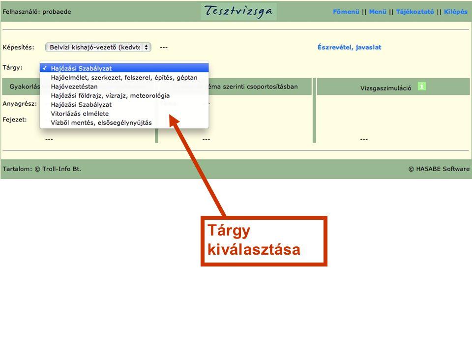 2.Gyakorlás tematika, vagy téma szerinti csoportosításban 1.