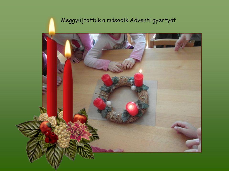 Meggyújtottuk a második Adventi gyertyát