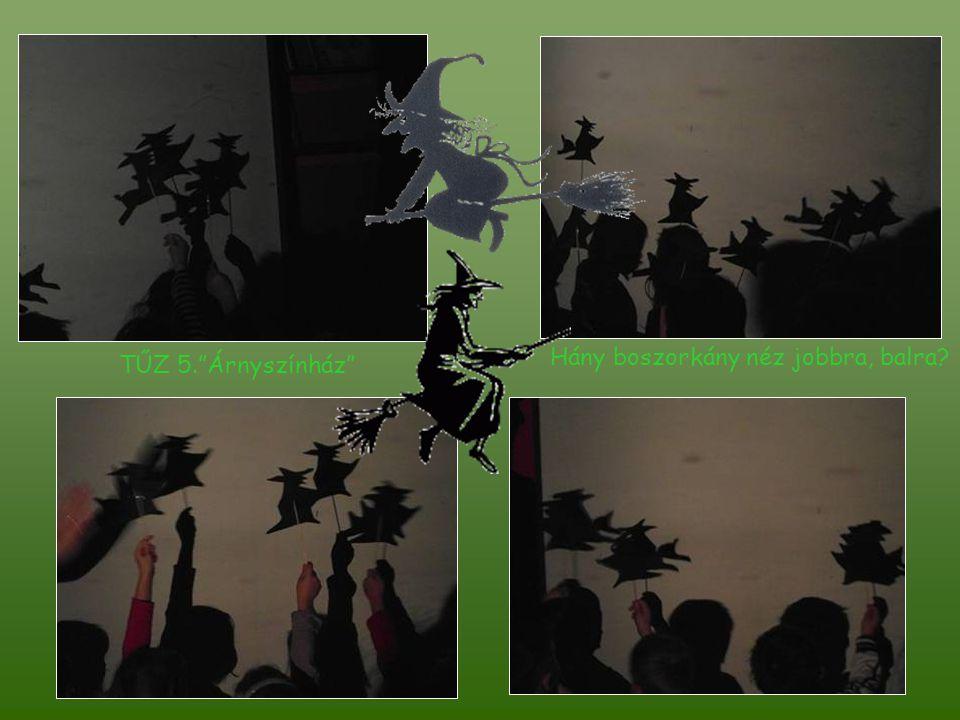 TŰZ 5. Árnyszínház Hány boszorkány néz jobbra, balra?