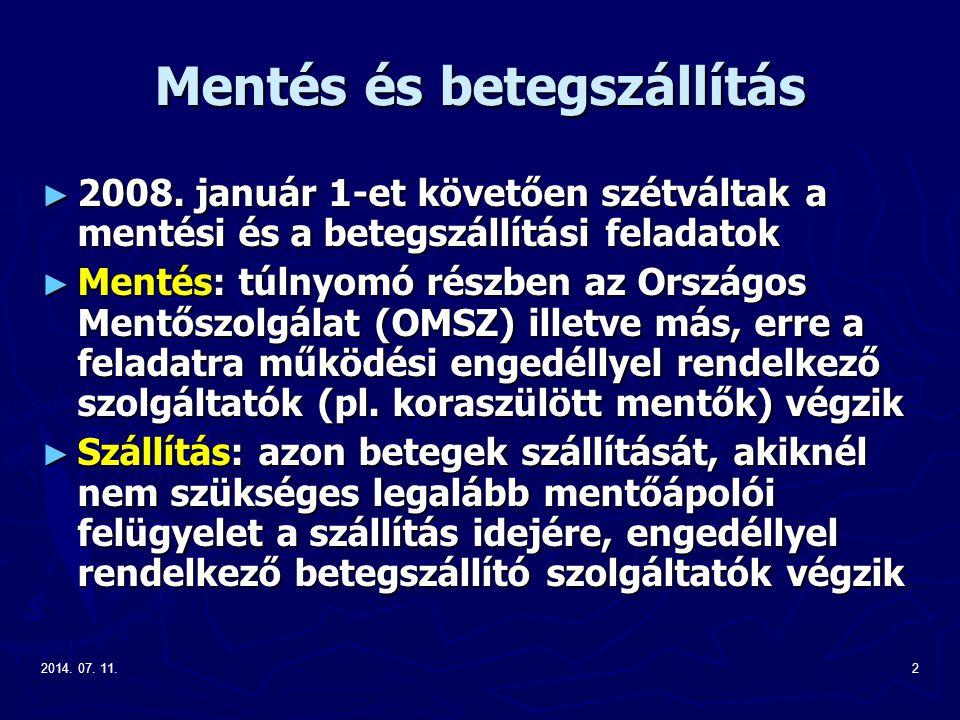 2014. 07. 11.2 Mentés és betegszállítás ► 2008.