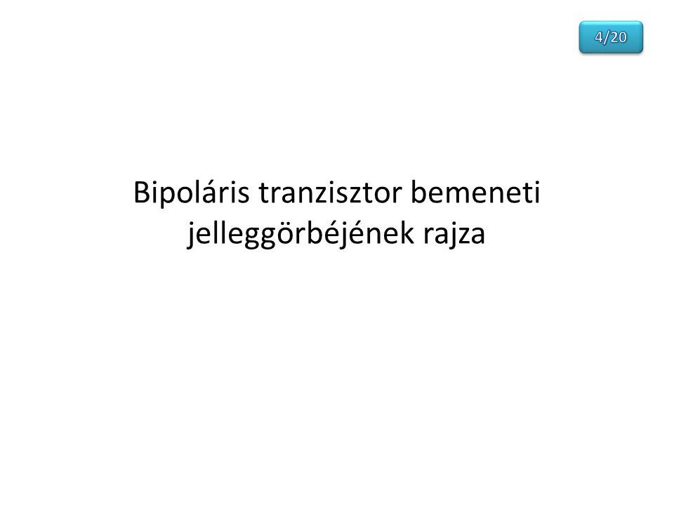 Bipoláris tranzisztor bemeneti jelleggörbéjének rajza