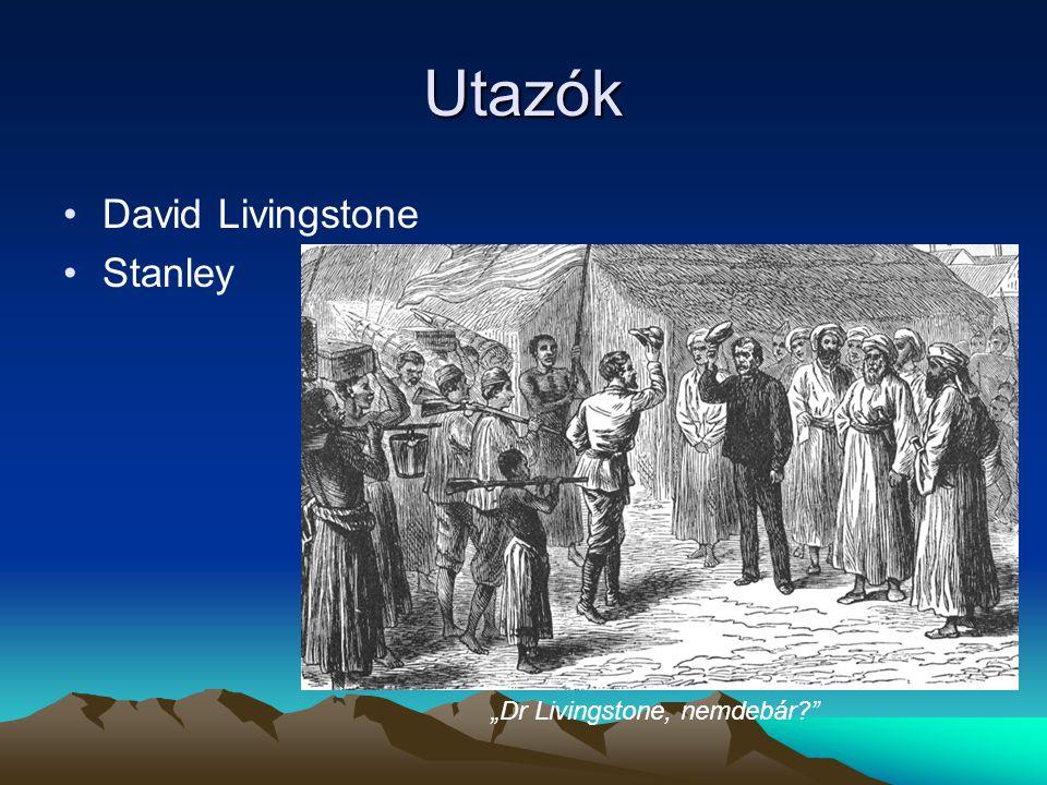 """Utazók David Livingstone Stanley """"Dr Livingstone, nemdebár?"""""""