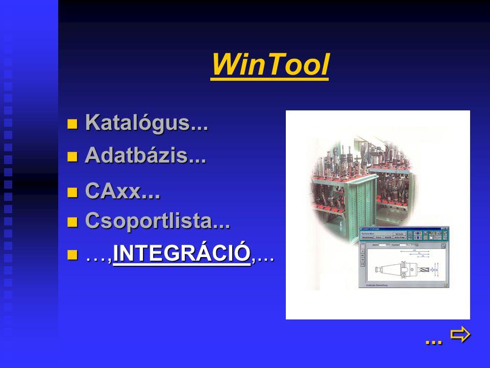 WinTool felhasználói(2)... ... 