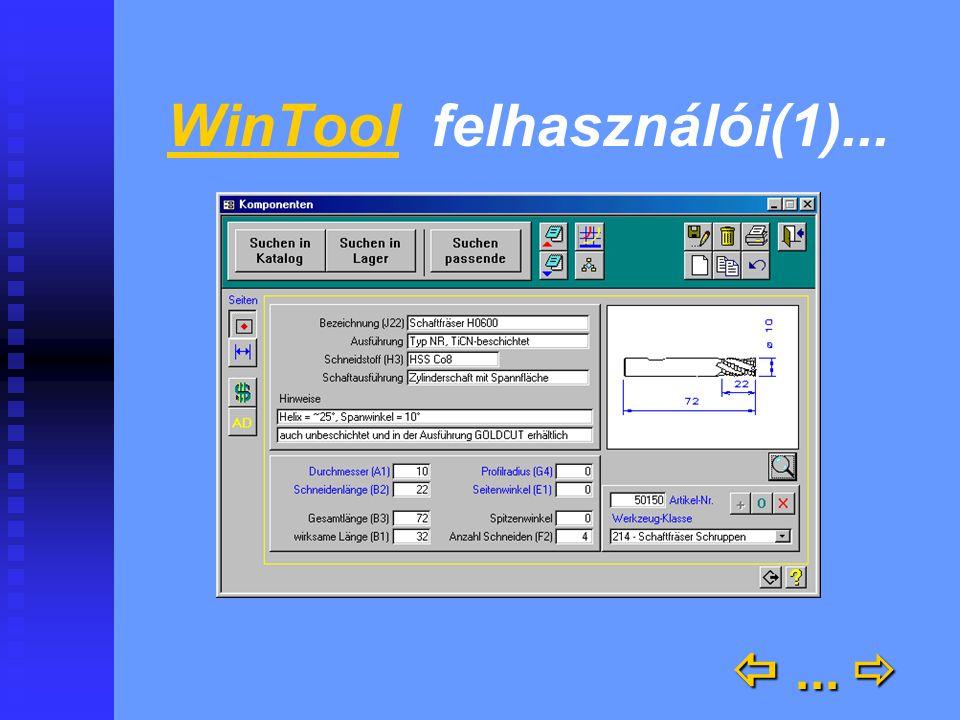 WinTool felhasználói(1)... ... 