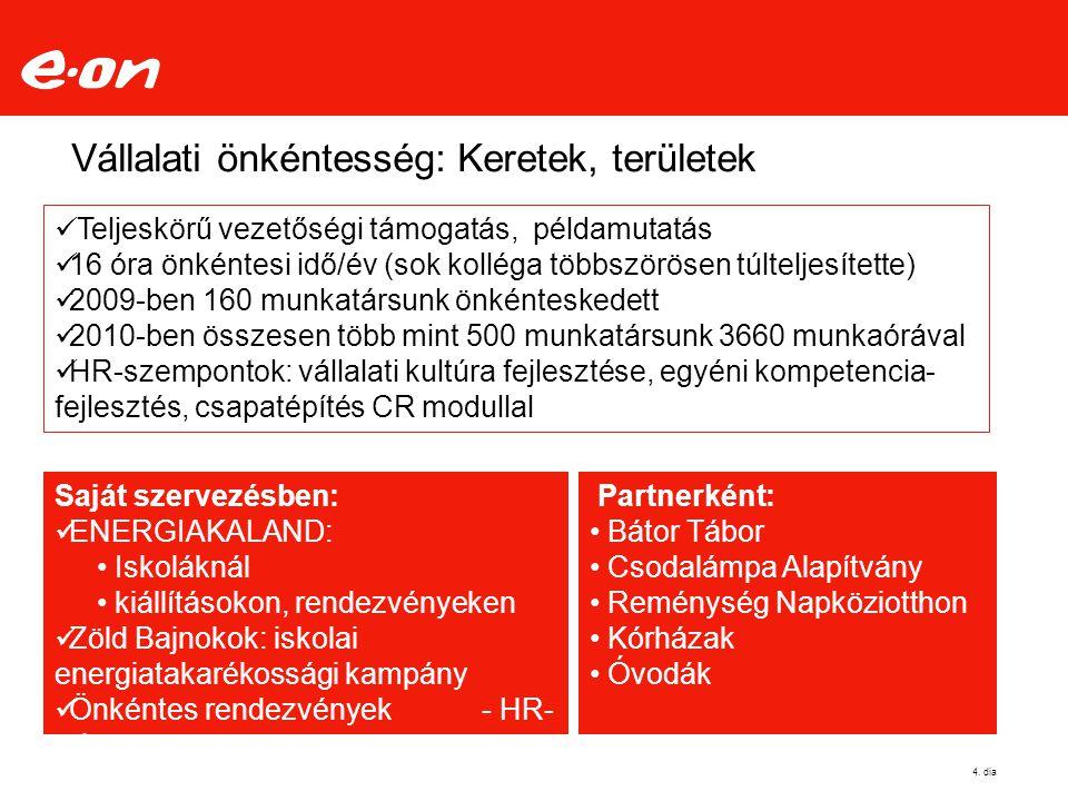 Vállalati önkéntesség: Keretek, területek 4.