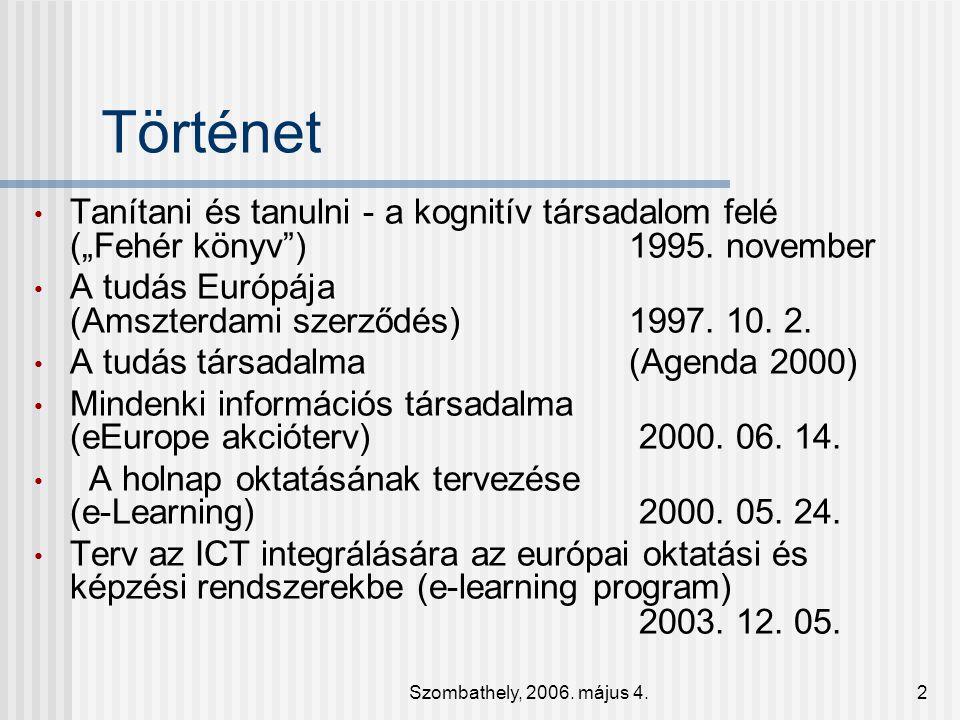 Szombathely, 2006.május 4.13 A paradigma Az új paradigmák a régiekből születnek.