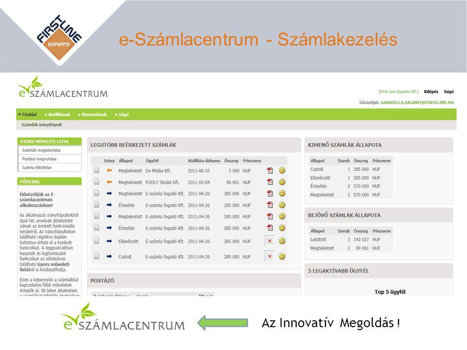 e-Számlacentrum - Számlakezelés Az Innovatív Megoldás !