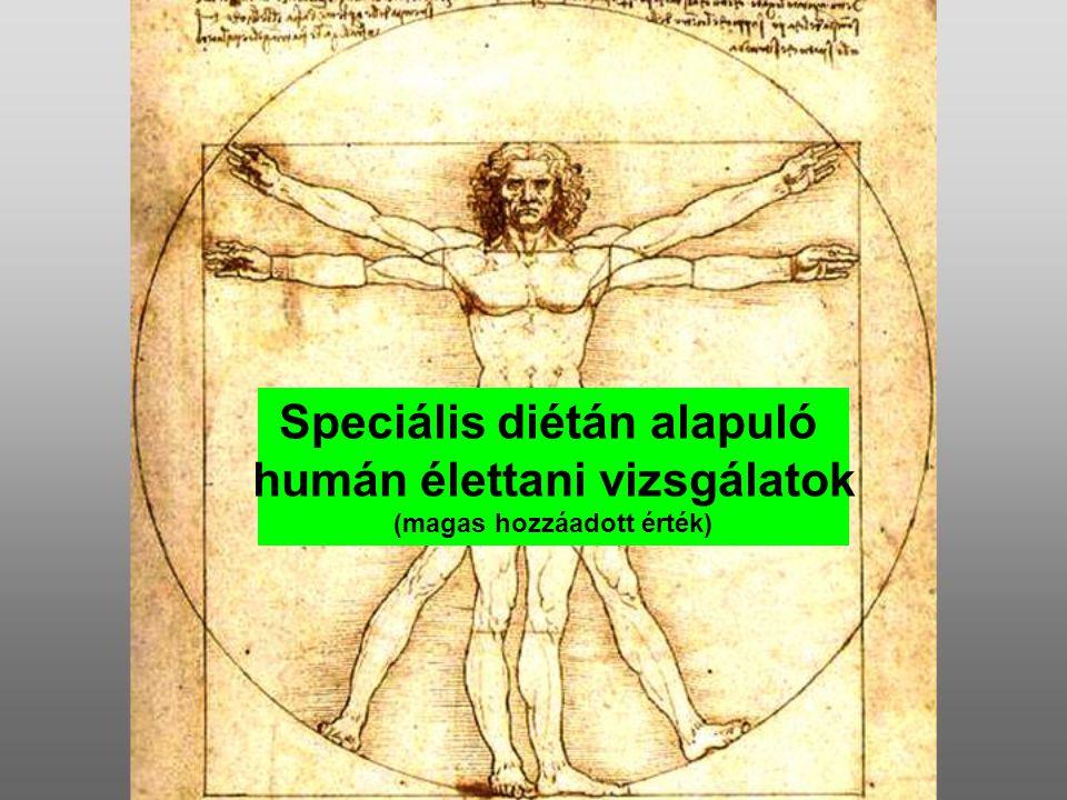 Speciális diétán alapuló humán élettani vizsgálatok (magas hozzáadott érték)