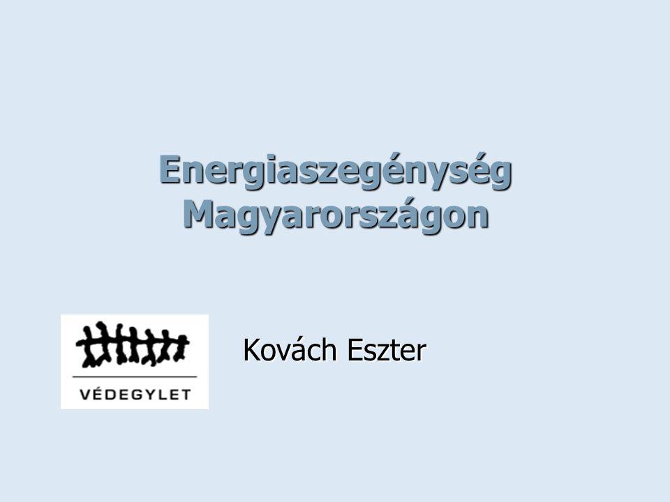 Energiaszegénység Magyarországon Kovách Eszter