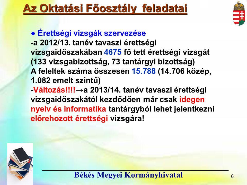 17 Békés Megyei Kormányhivatal Köszönöm megtisztelő figyelmüket.