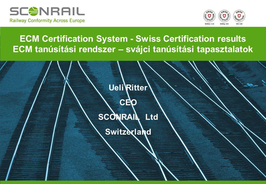 MVME 21.03.2012 Page 2 A SCONRAIL tanúsított mint Interoperabilitási tanúsítási szerv Termék tanúsítási szerv Ellenőrző szerv ECM tanúsító szerv az ECM rendszer elemeinek és alrendszereinek független biztonsági felmérésére, tanúsítására és ellenőrzésének végrehajtására SCONRAIL – the Company SCONRAIL – a társaságról Közös vállalat: