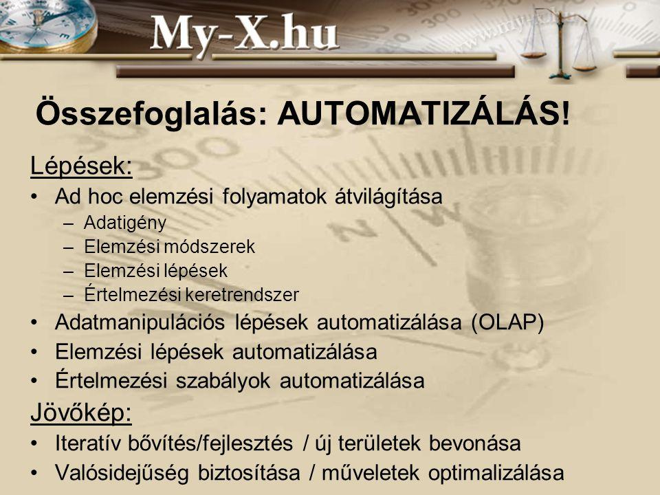 INNOCSEKK 156/2006 Összefoglalás: AUTOMATIZÁLÁS.