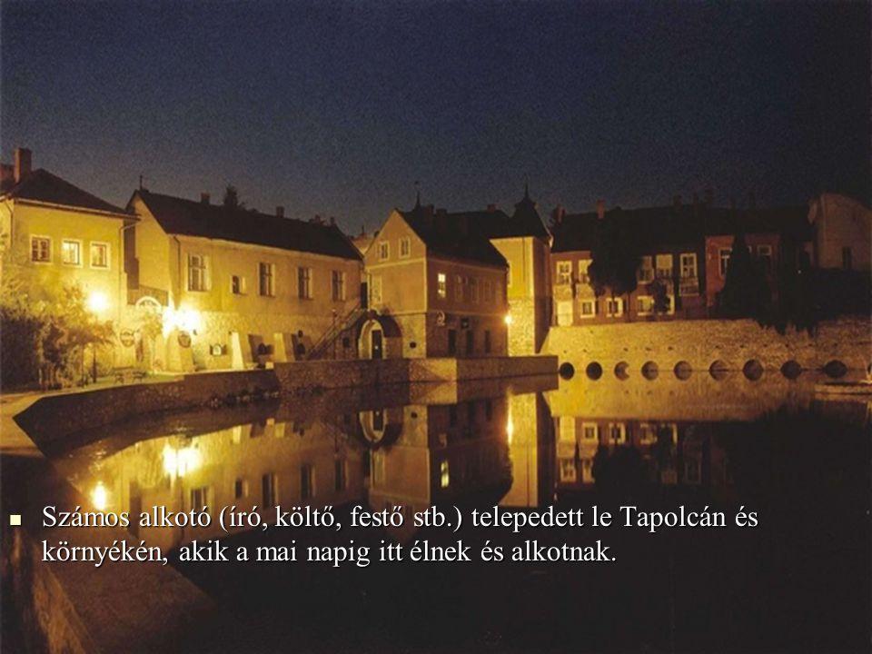 Számos alkotó (író, költő, festő stb.) telepedett le Tapolcán és környékén, akik a mai napig itt élnek és alkotnak.