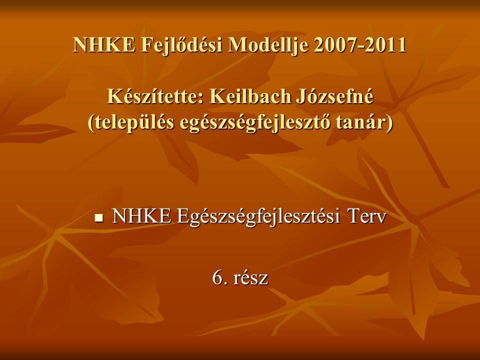 NHKE Egészségfejlesztési Terv NHKE Egészségfejlesztési Terv 6.