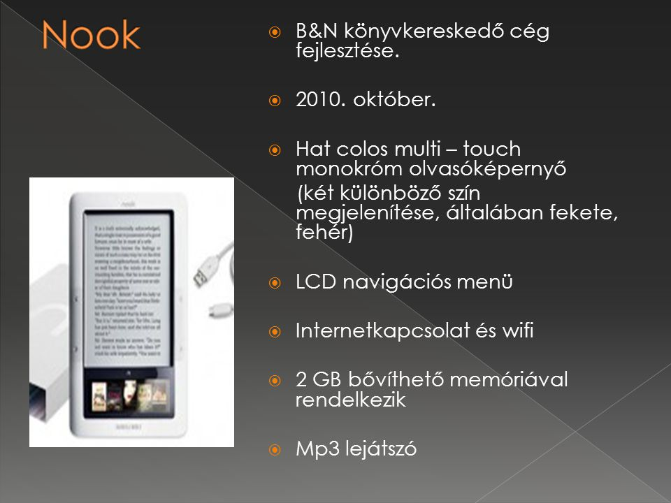  B&N könyvkereskedő cég fejlesztése. 2010. október.