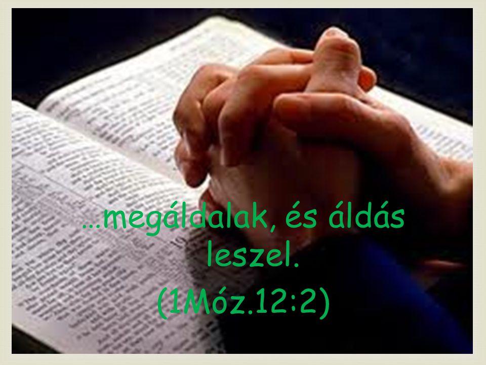  …megáldalak, és áldás leszel. (1Móz.12:2)