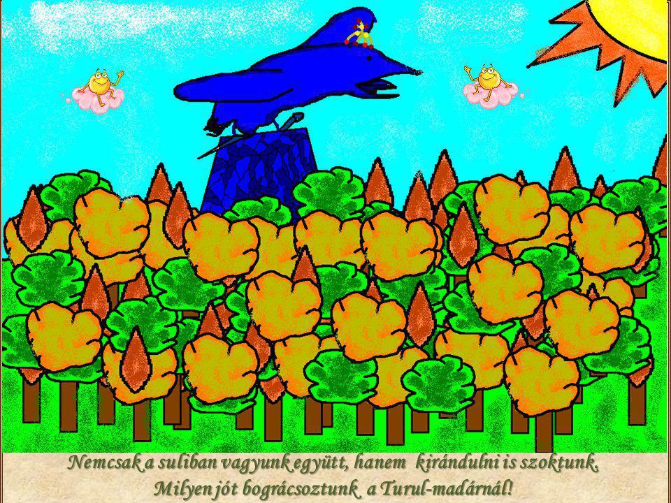 Nemcsak a suliban vagyunk együtt, hanem kirándulni is szoktunk. Milyen jót bográcsoztunk a Turul-madárnál!