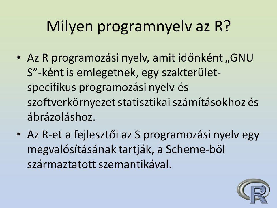 Milyen programnyelv az R.