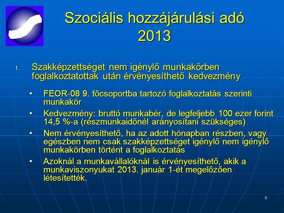 5 Szociális hozzájárulási adó 2013 1.