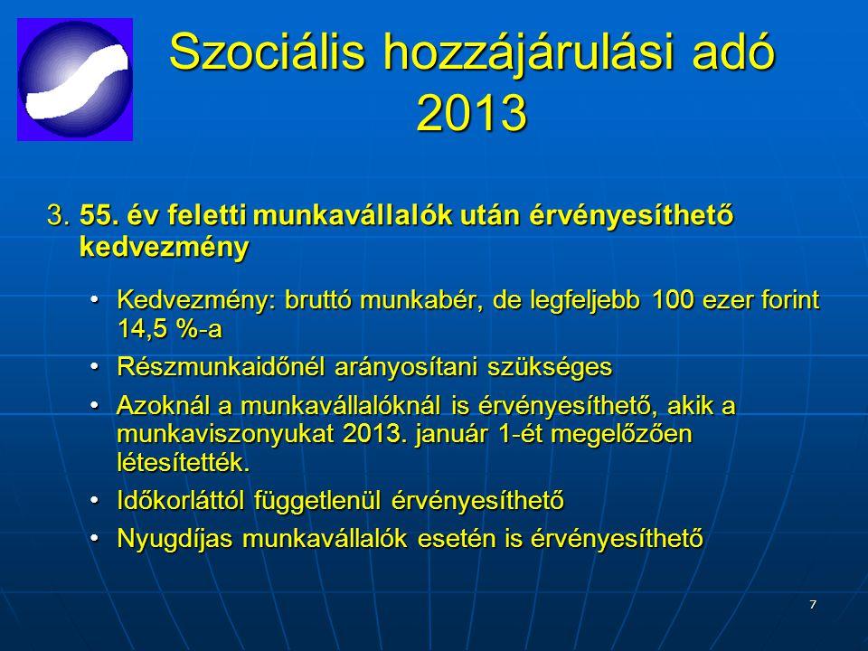 7 Szociális hozzájárulási adó 2013 3.55.