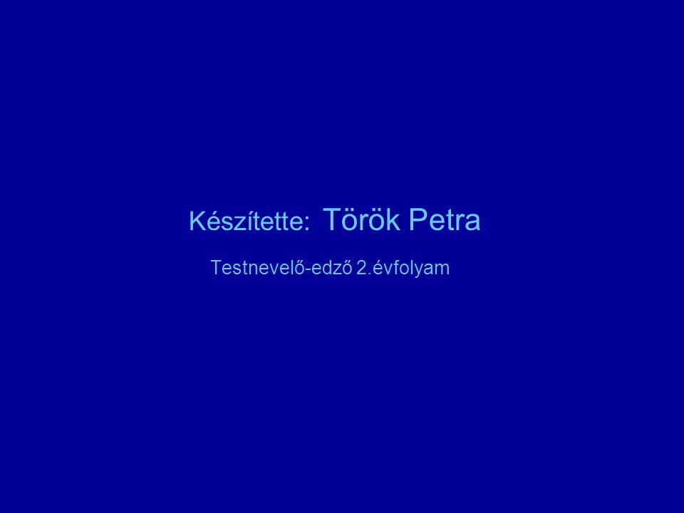 Készítette: Török Petra Testnevelő-edző 2.évfolyam