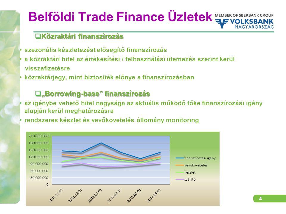 5 A régiós kereskedelmet támogató banki termékek  Exportfinanszírozás export előfinanszírozás  rulírozó export előfinanszírozó hitel folyamatos exportszállításokhoz  előfinanszírozó hitel nagyobb összegű egyedi exportügylethez export utófinanszírozás  vevőhitel (közvetlen vagy bankközi)  export követelések leszámítolása  exportőr finanszírozása a követelés engedményezése mellett  Okmányos ügyletek akkreditív  halasztott fizetésű export akkreditív leszámítolása  export akkreditív igazolása  import akkreditívek nyitása  back-to-back akkreditívek nyitása bankgarancia  valamennyi típusú bankgarancia kibocsátása  bankgaranciák felülgarantálása