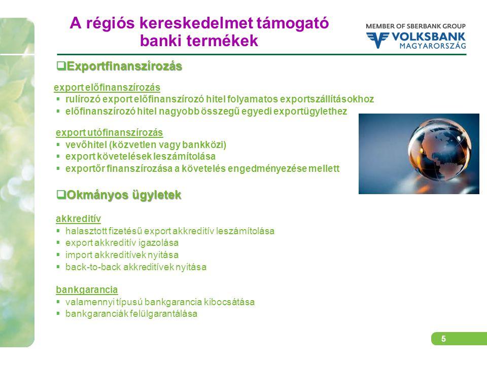 6 Egy üzleti modell a Sberbank csoport régiós együttműködésében Magyar exportőr Magyarországi Volksbank 3)Halasztott L/C megnyitása 1)Export szerződés 5)szállítás 1)Export szerződés 5)szállítás 2)L/C nyitási megbízás 4)Kiértesítés az L/C megnyitásáról, L/C igazolása 6)Szállítást követően okmánybenyújtás 7)Okmányelfogadást követően leszámítolás Sberbank Serbia 8)L/C fedezet 90 napra Szerbiai vevő 9)fizetés esedékességkor