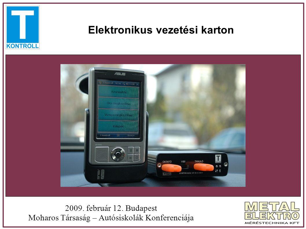 Elektronikus vezetési karton 2009. február 12. Budapest Moharos Társaság – Autósiskolák Konferenciája Felvezetés!!??