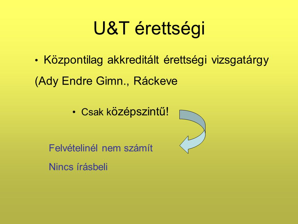 U&T érettségi 1.