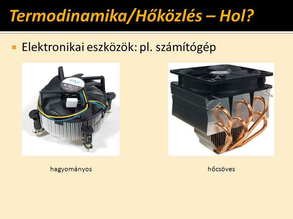  Elektronikai eszközök: pl. számítógép hagyományoshőcsöves