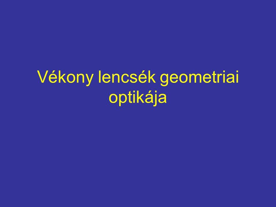 Vékony lencsék geometriai optikája