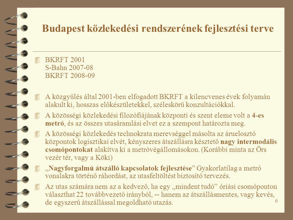 6 4 BKRFT 2001 S-Bahn 2007-08 BKRFT 2008-09 4 A közgyűlés által 2001-ben elfogadott BKRFT a kilencvenes évek folyamán alakult ki, hosszas előkészülete