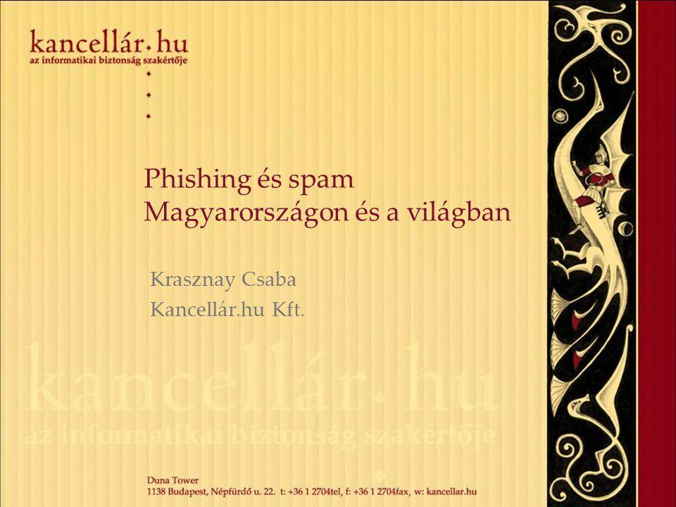 Phishing és spam Magyarországon és a világban Krasznay Csaba Kancellár.hu Kft.