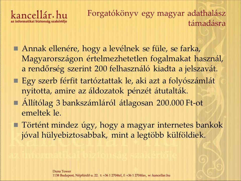 Annak ellenére, hogy a levélnek se füle, se farka, Magyarországon értelmezhetetlen fogalmakat használ, a rendőrség szerint 200 felhasználó kiadta a jelszavát.