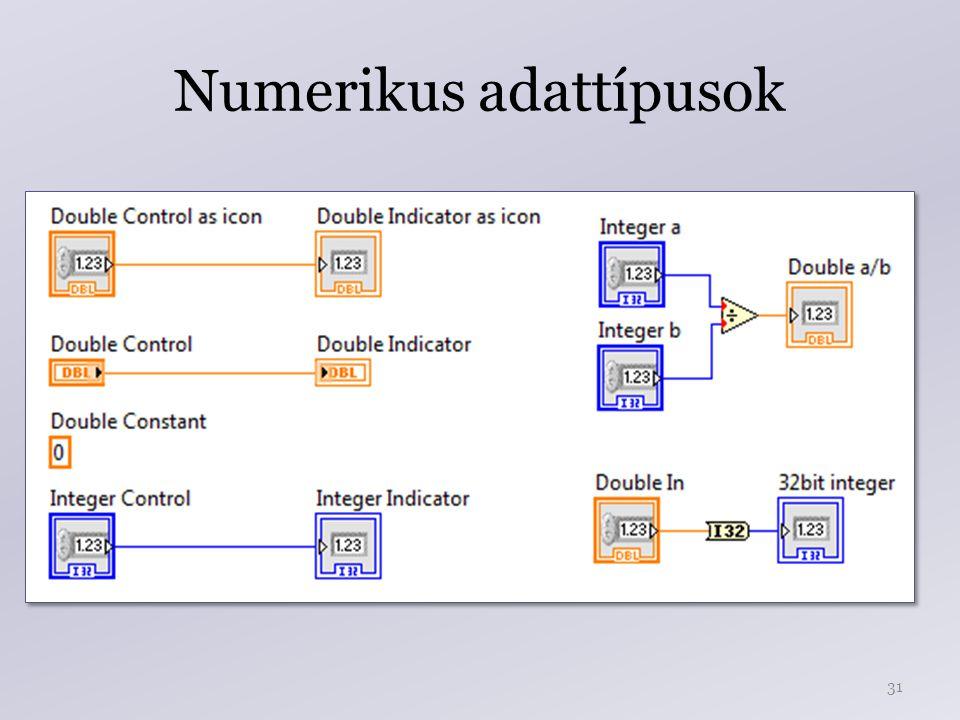 Numerikus adattípusok 31