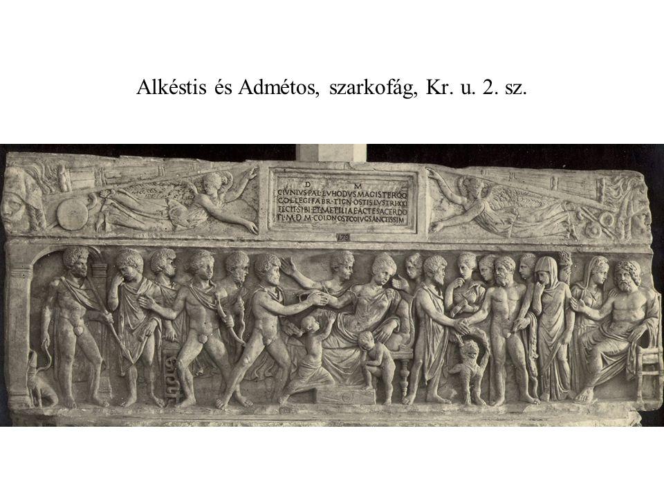 Alkéstis és Admétos, szarkofág, Kr. u. 2. sz.